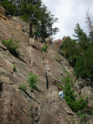 Rock Climbing Photo: Climbers on the independent start to Easy Street, ...