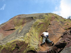 Rock Climbing Photo: Joseph Crotty about to start into the lower diffic...
