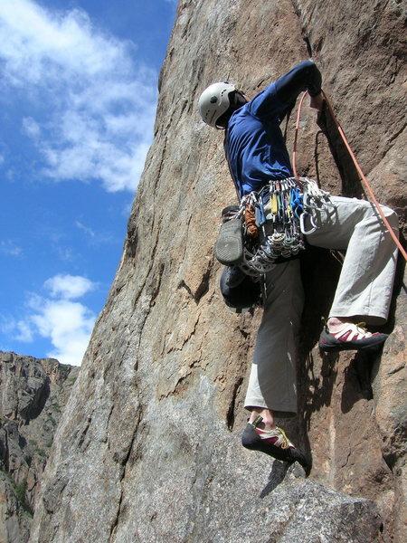 Rock Climbing Photo: Rob starting up 2nd pitch.