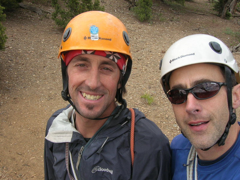 Rock Climbing Photo: Me and Jay on top after finishing Trilogy.