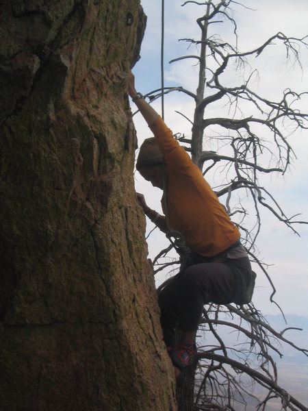 Rock Climbing Photo: My wife having a great time at the start's entry c...