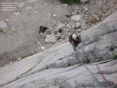 Rock Climbing Photo: From flakey slab to slabby flake