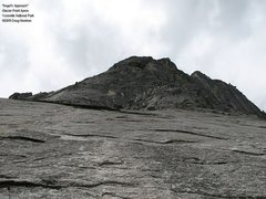 "Rock Climbing Photo: From left of ""Point Beyond"", up the slab..."
