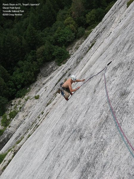 Rock Climbing Photo: Randy decided to ditch his shirt and the pack.  Na...