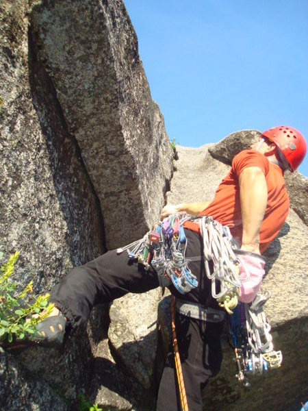 The first move of the climb (10a variation)