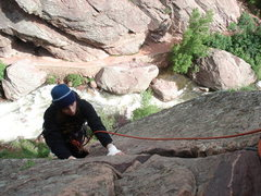 Rock Climbing Photo: Finishing the 2nd pitch of the Bastille Crack