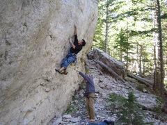 Rock Climbing Photo: Nice pockets at the bottom.
