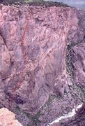 "Rock Climbing Photo: the line that we believe very much to be ""Eig..."