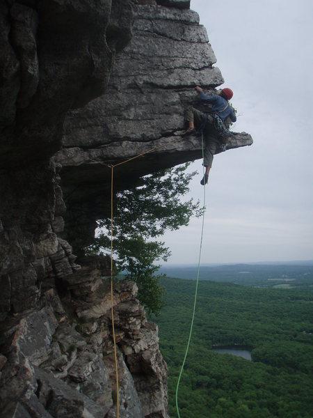 Rock Climbing Photo: Carter after the pullup