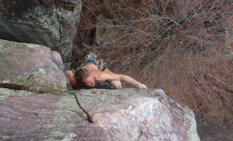 Rock Climbing Photo: Joel leading