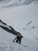 Rock Climbing Photo: Climbing the headwall on the south side - 7,500 ft...