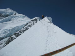 Rock Climbing Photo: Knife-edge crux at 11,600 ft