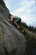 Rock Climbing Photo: Bouldering on some of the easy slabs next to the p...
