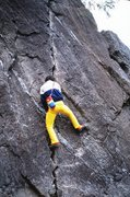 Rock Climbing Photo: Neil soloing Clapham Junction.