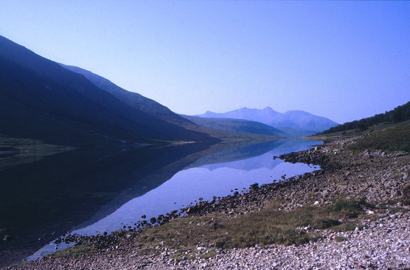Loch Etive from the parking lot at the East end.