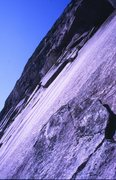 Rock Climbing Photo: Looking towards the crux slab pitch of The Long Re...