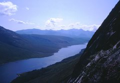 Rock Climbing Photo: Loch Etive from the base of the slabs on a perfect...
