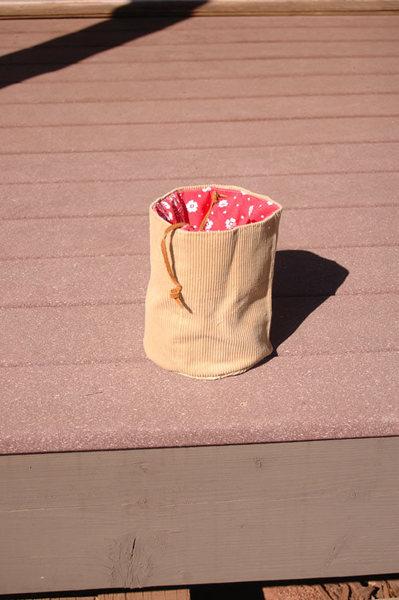 My home-sewn chalk bag, now MIA.
