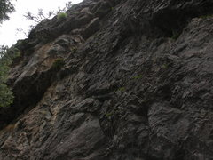 Rock Climbing Photo: In this dark photo on a rainy day, COMING FULL CIR...