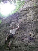 Rock Climbing Photo: Ned TRing a nice line.  Very nice pockets to pull ...