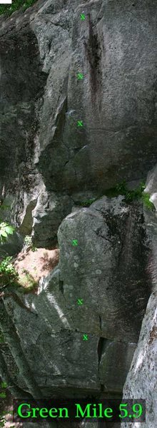 Rock Climbing Photo: green mile route map...