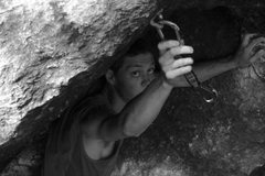 Rock Climbing Photo: placing a draw from the nook...