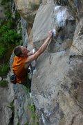 Rock Climbing Photo: otey sticking the crux(?) crimp...