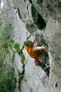 Rock Climbing Photo: otey stretching through the crux...