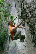 Rock Climbing Photo: the bucket undercling the marks the end of the tou...