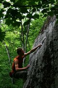 Rock Climbing Photo: otey topping out...