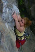 Rock Climbing Photo: working through the lower crux on Underdog... didn...