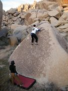 Rock Climbing Photo: Near the top of the Chocolate Slab (V0+), Joshua T...