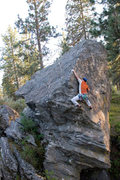 Rock Climbing Photo: Passing the crux on Pinecroft Facile. Pinecroft Di...