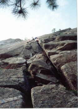 Rock Climbing Photo: The start of main crack.