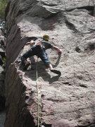 Rock Climbing Photo: Rhoads leading Man and Superman
