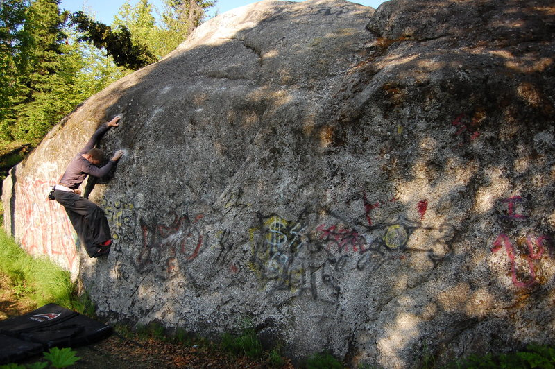 The unknown V4 at Hilltop.