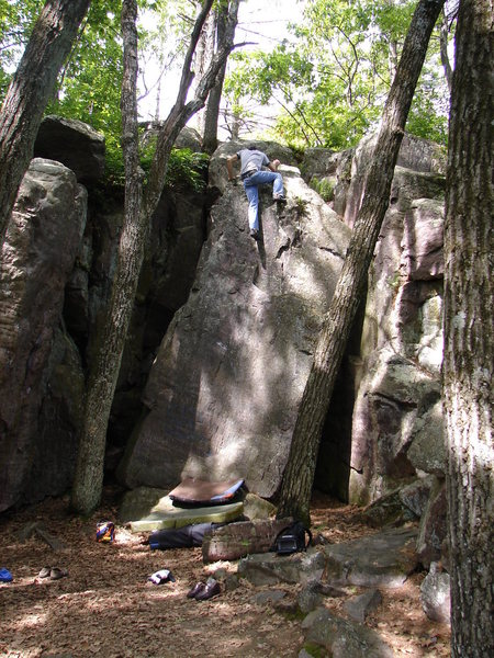 Rock Climbing Photo: RV topping out.