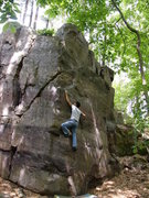 Rock Climbing Photo: RV moving up the sloper.