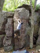 Rock Climbing Photo: Matching the high crimp.