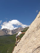 Rock Climbing Photo: Tristan Hechtel leading Coloradoddity, 5.5, Jurass...
