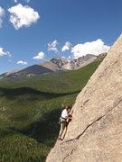 Rock Climbing Photo: Tristan leading.