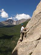 Rock Climbing Photo: Tristan leading Coloradoddity, 5.5,