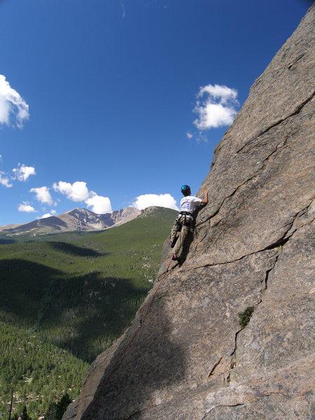 Tristan Hechtel leading Coloradoddity, 5.5.