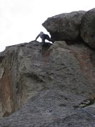 Rock Climbing Photo: Patty on the FA of Pooh's Honey.