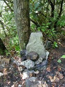 Rock Climbing Photo: Cairn on trail marks the far left side of the Jim ...
