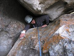 Rock Climbing Photo: Emerging from the Heffalump Trap.  Where's the hon...