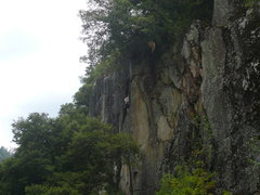 Rock Climbing Photo: toward the top