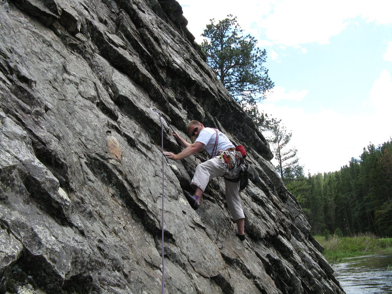 Rock Climbing Photo: My one bolted climb at Boxelder Creek.  5.7 110ft ...
