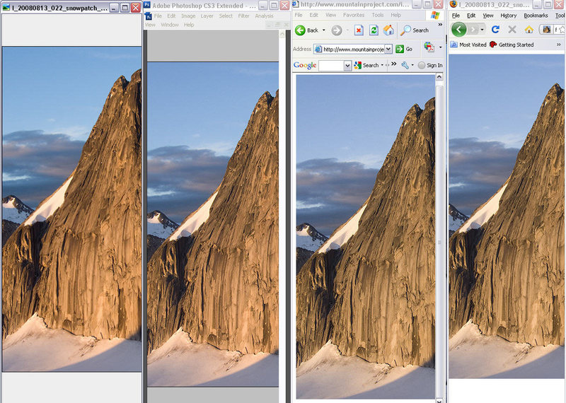 photo browser display differences