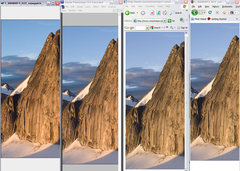 Rock Climbing Photo: photo browser display differences